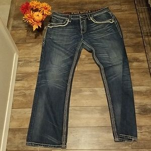 Mens Rock Revival Relaxed Straight Sz 36